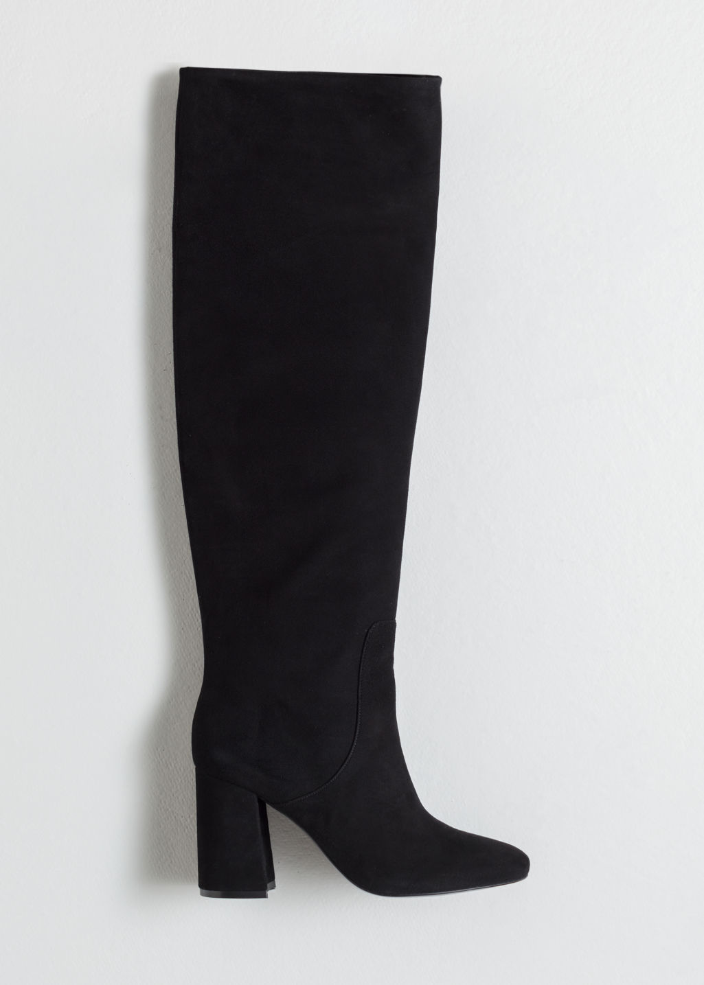 cd6dbae035a Knee High Suede Boots - Black - Knee high boots -   Other Stories