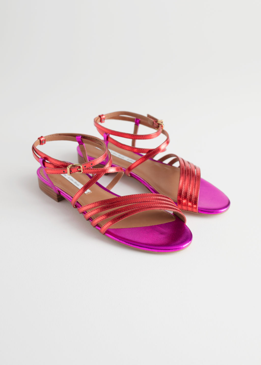 & OTHER STORIES Metallic Gladiator Strappy Sandals OJaudhldXs