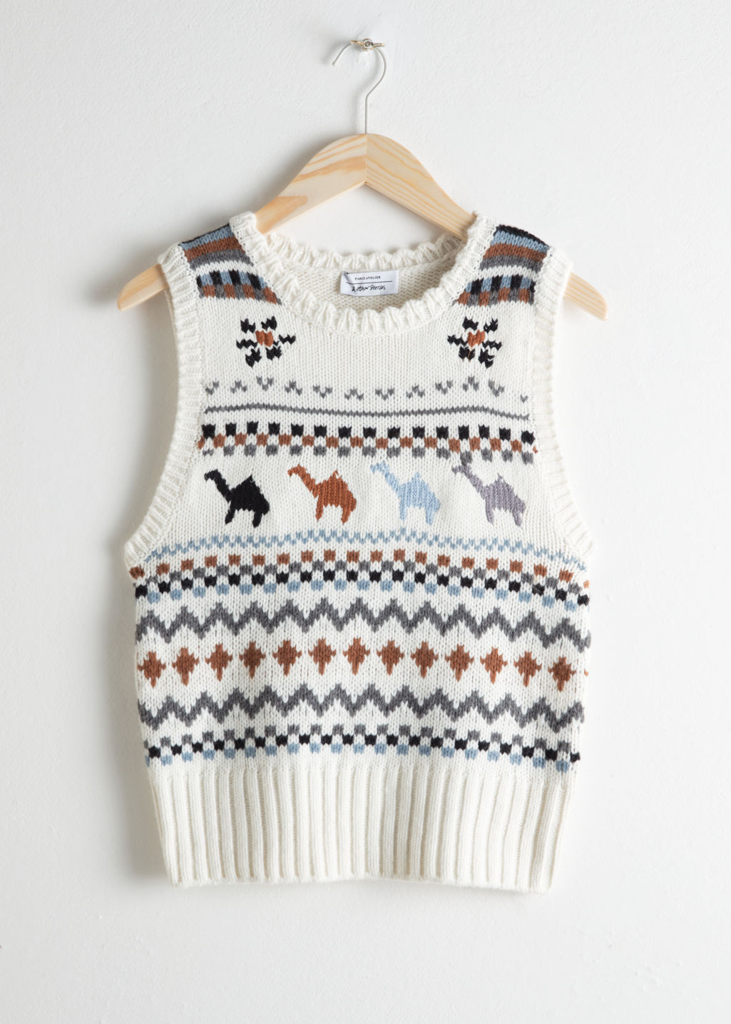 Camel Knit Vest - Camel Pattern - Knitwear - & Other Stories