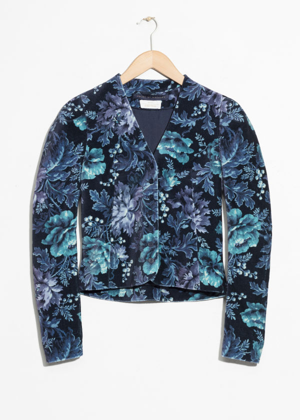 Front image of Stories house of hackney blazer in blue