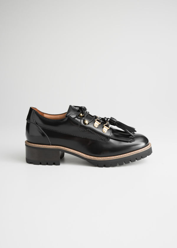 Tassel Lace Up Oxfords