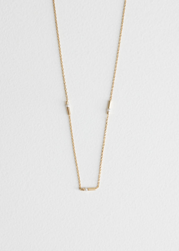 Square Bead Chain Necklace