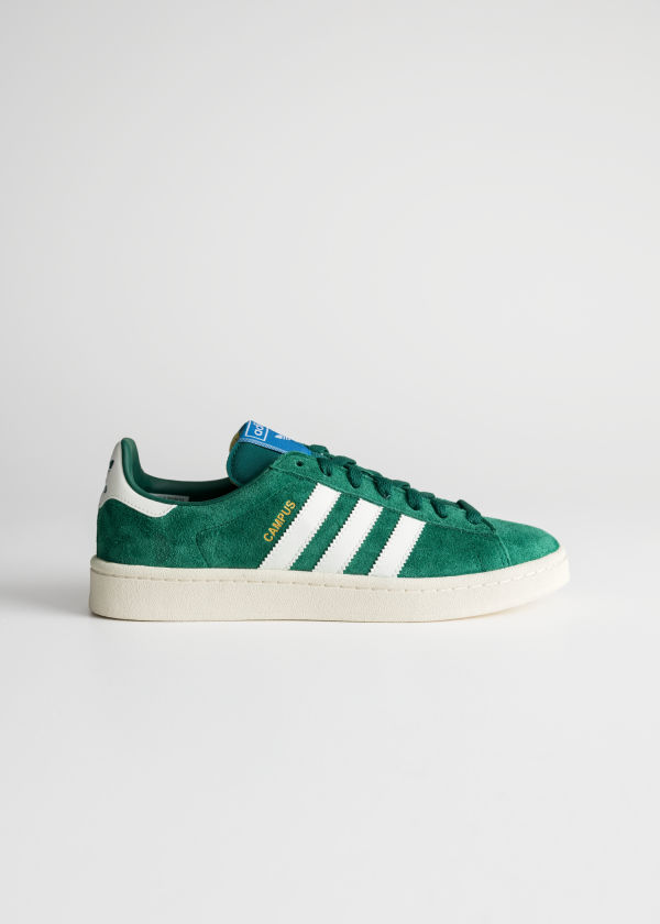 Front image of Stories adidas campus in green