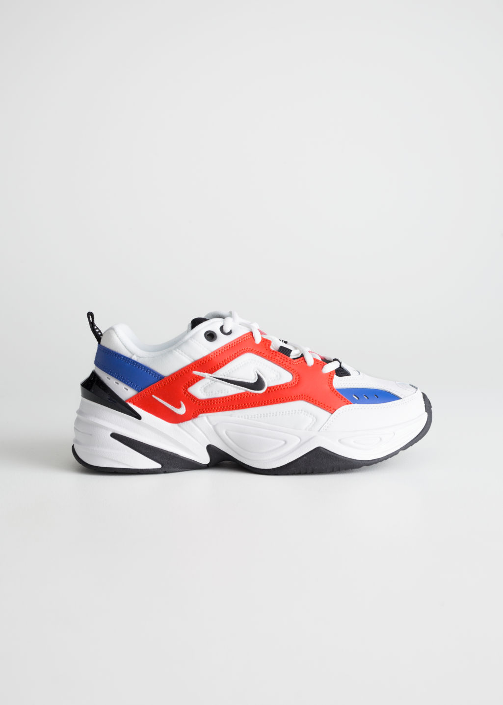 Front image of Stories nike m2k tekno  in white
