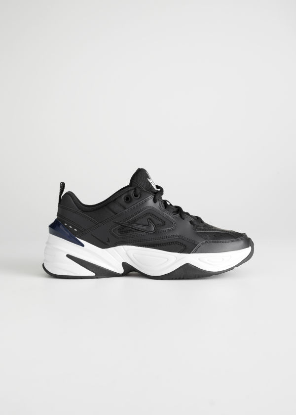 Front image of Stories nike m2k tekno  in black