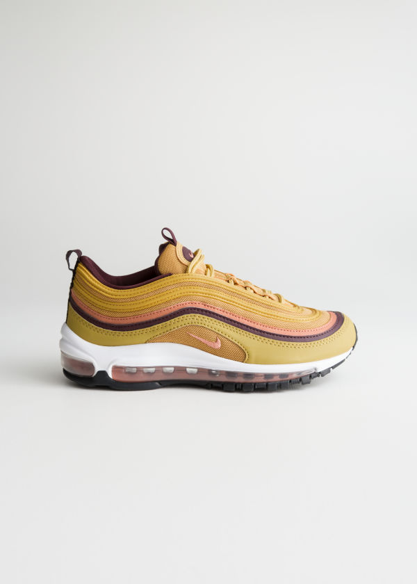 Front image of Stories nike air max 97 lea in orange