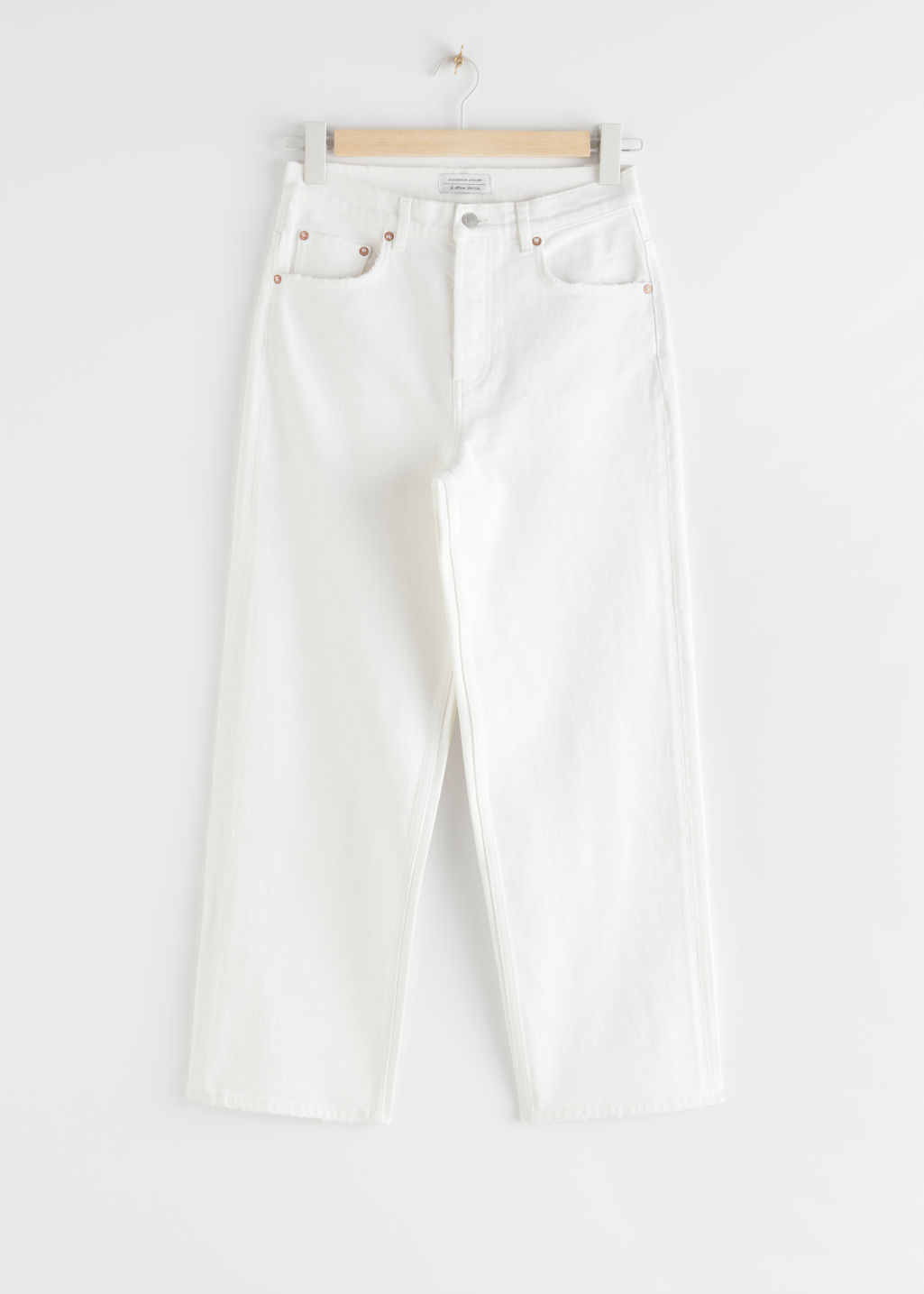 StillLife Front Image of Stories Loose Mid Rise Jeans in White