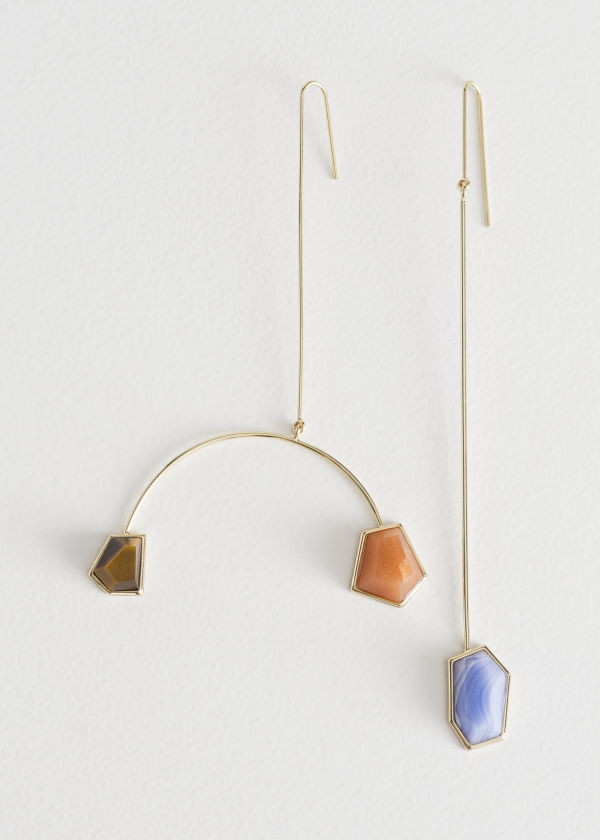 Asymmetrical Mobile Stone Earrings