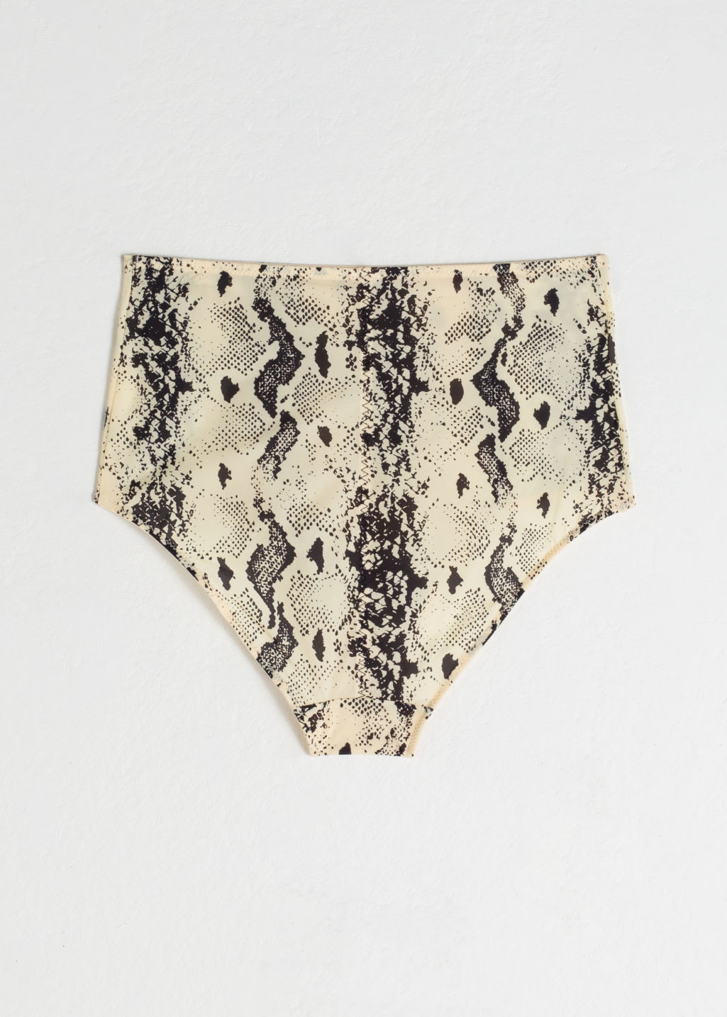 Back image of Stories animal print high waisted briefs in beige