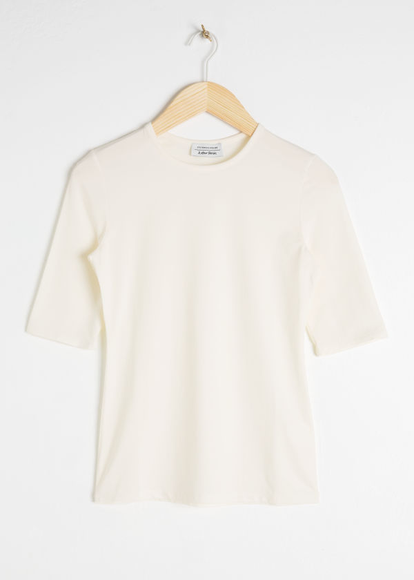 Fitted Stretch Cotton Tee