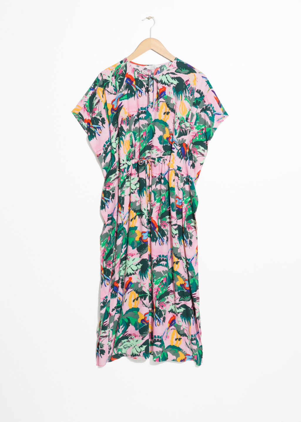 Printed Midi Kaftan Dress