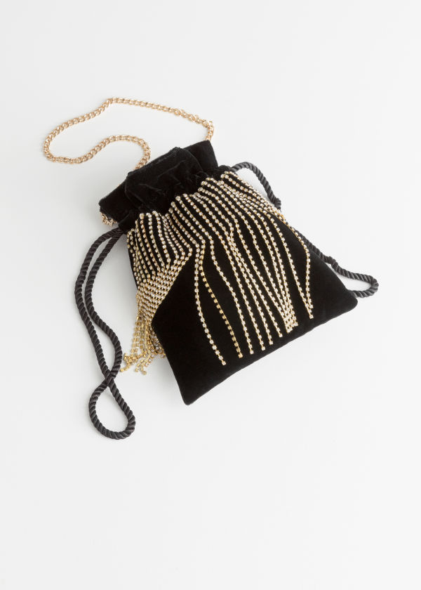 Jewelled Drawstring Bag