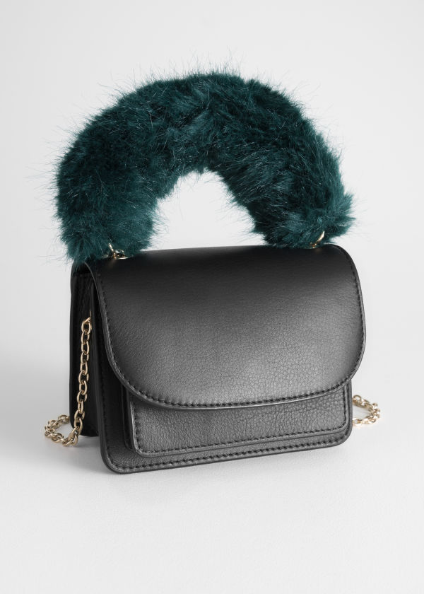 Faux Fur Handle Mini Bag