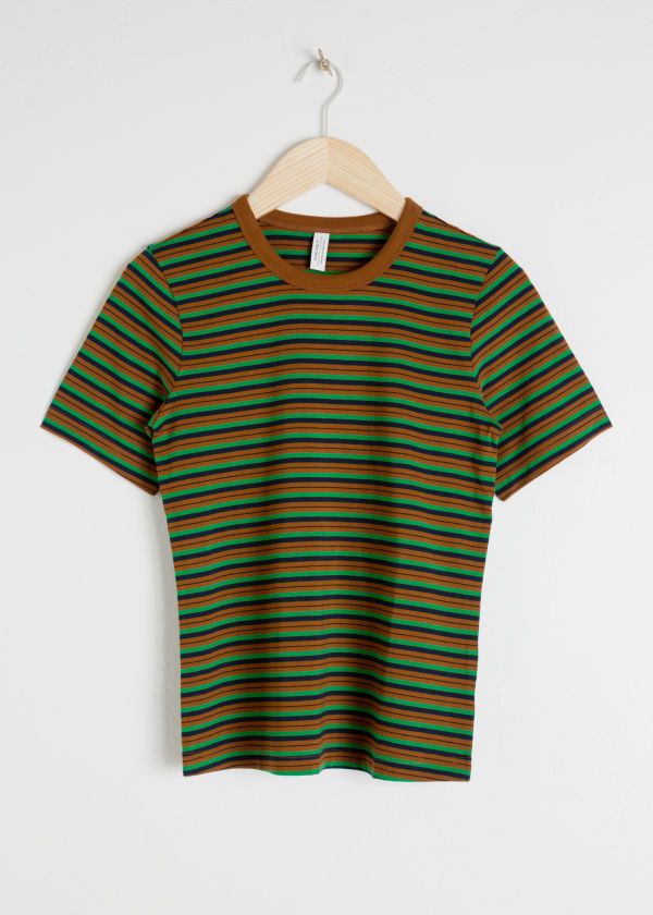 Cotton Striped Ringer Tee