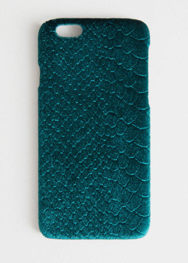 Velvet Snake Embossed iPhone Case