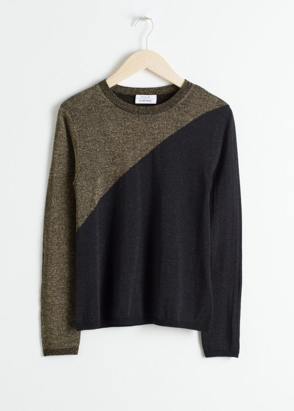 Wool Blend Glitter Sweater