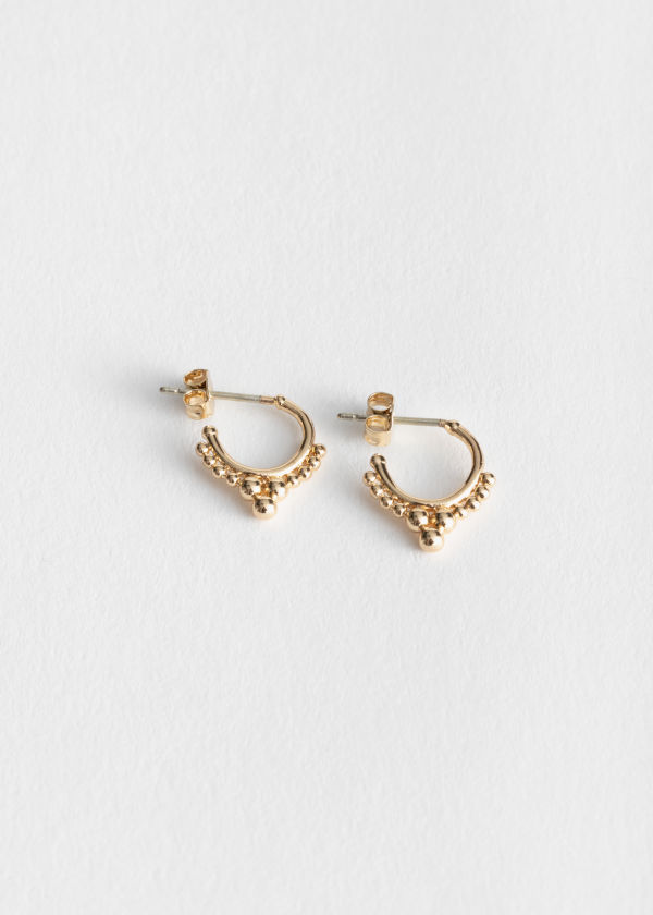 Ball Stud Mini Hoops