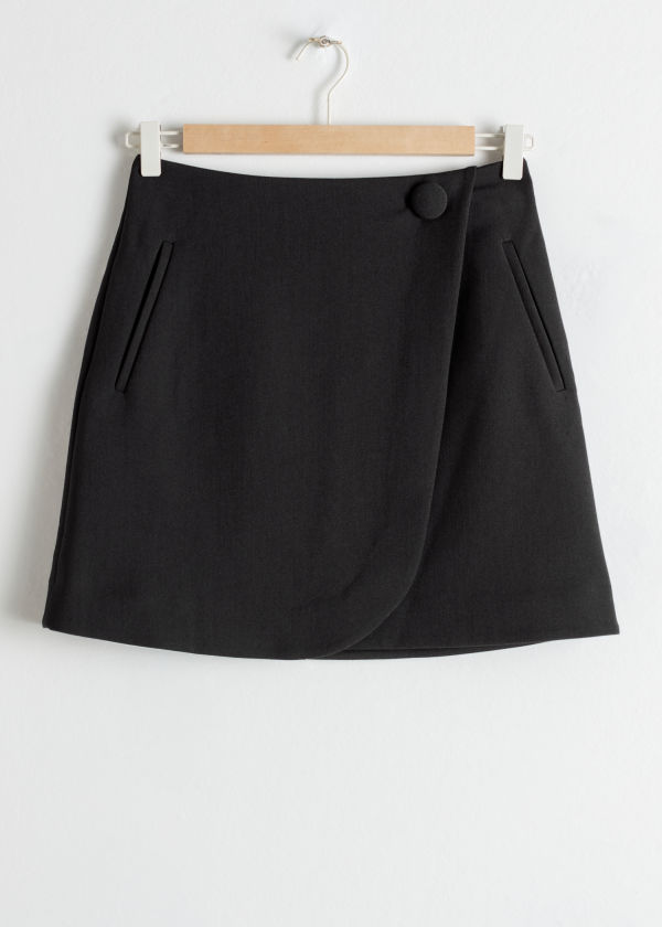 Wrap Mini Skirt