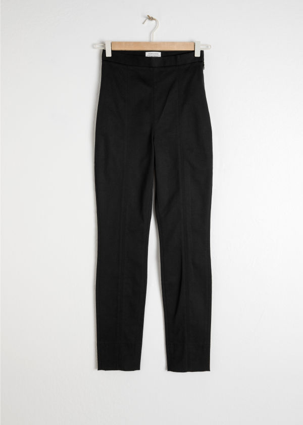 Fitted Cotton Trousers