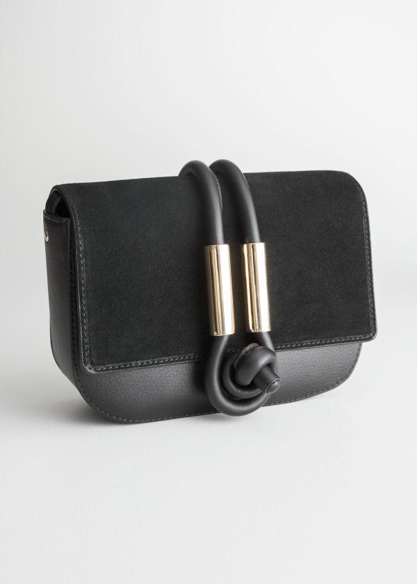 Leather Knot Crossbody Bag