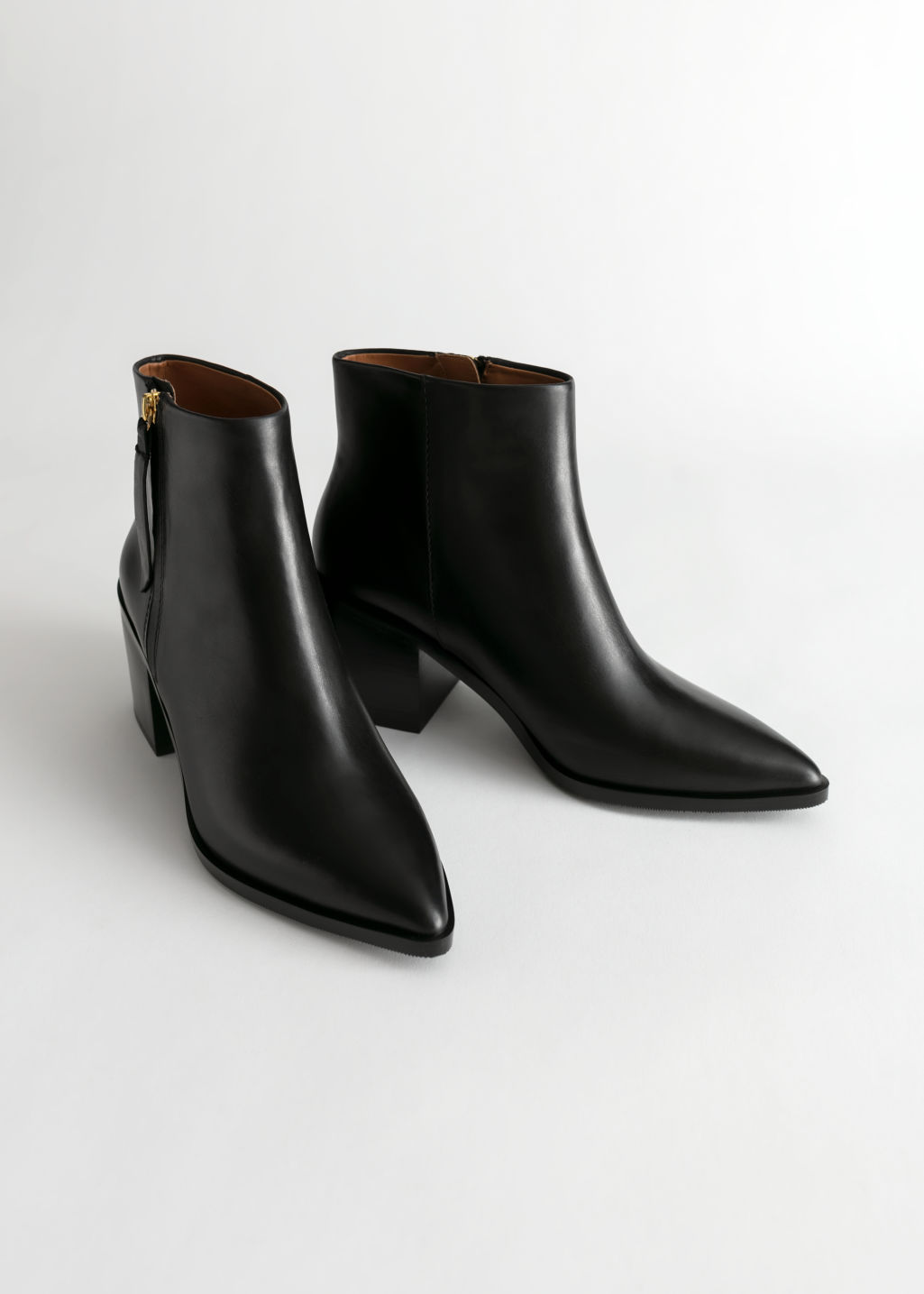 Pointed Ankle Boots - Black - Ankleboots -   Other Stories 1acd3995c
