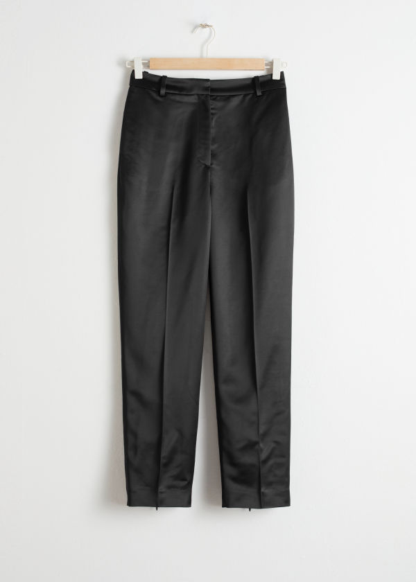 Slim Fit Satin Pants