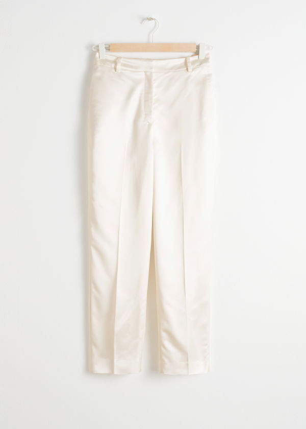 Slim Fit Satin Trousers