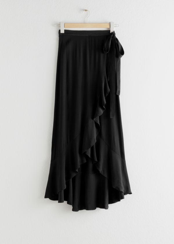 fb1695b38e99 Ruffle Wrap Maxi Skirt - Polka Dot - Maxi skirts - & Other Stories