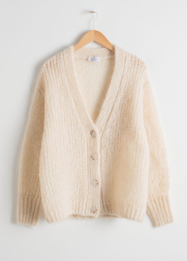 Oversized V-Neck Cardigan
