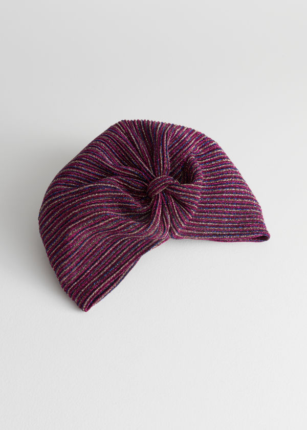 Metallic Striped Turban