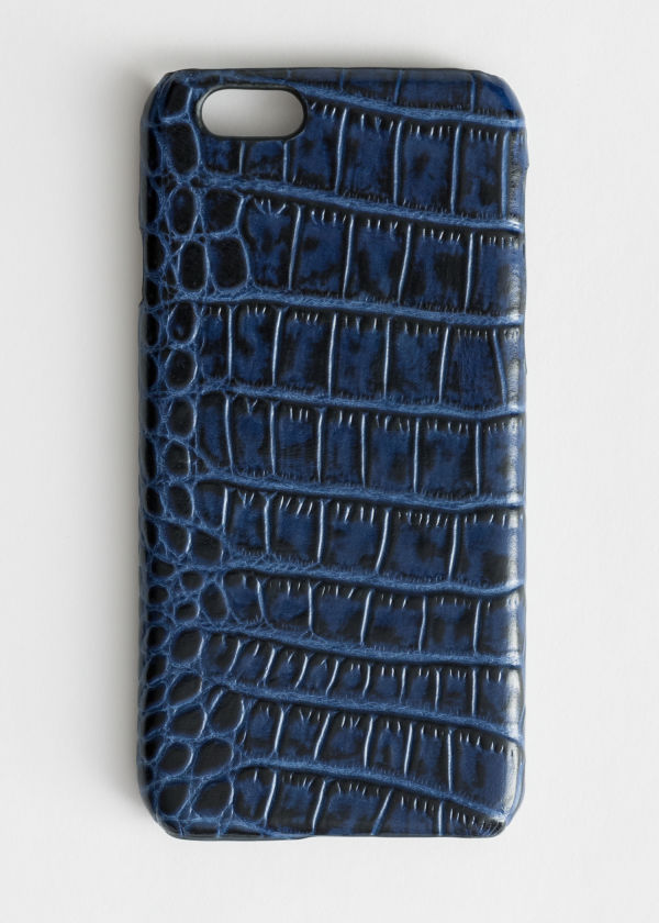 Crocodile Embossed Leather iPhone Case
