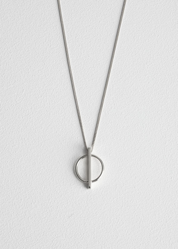 Circle Bar Pendant Necklace
