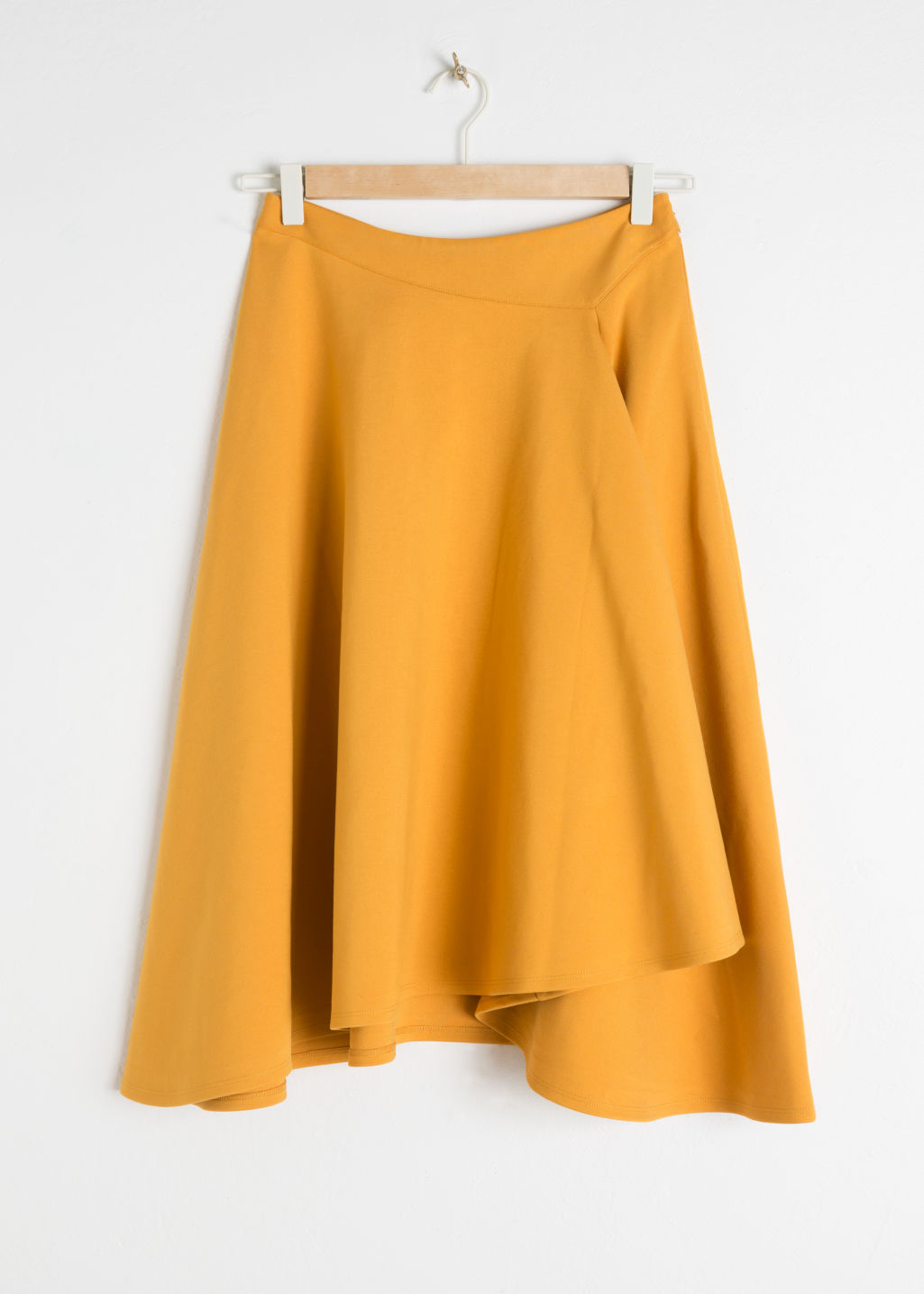 Front image of Stories voluminous a-line skirt in yellow