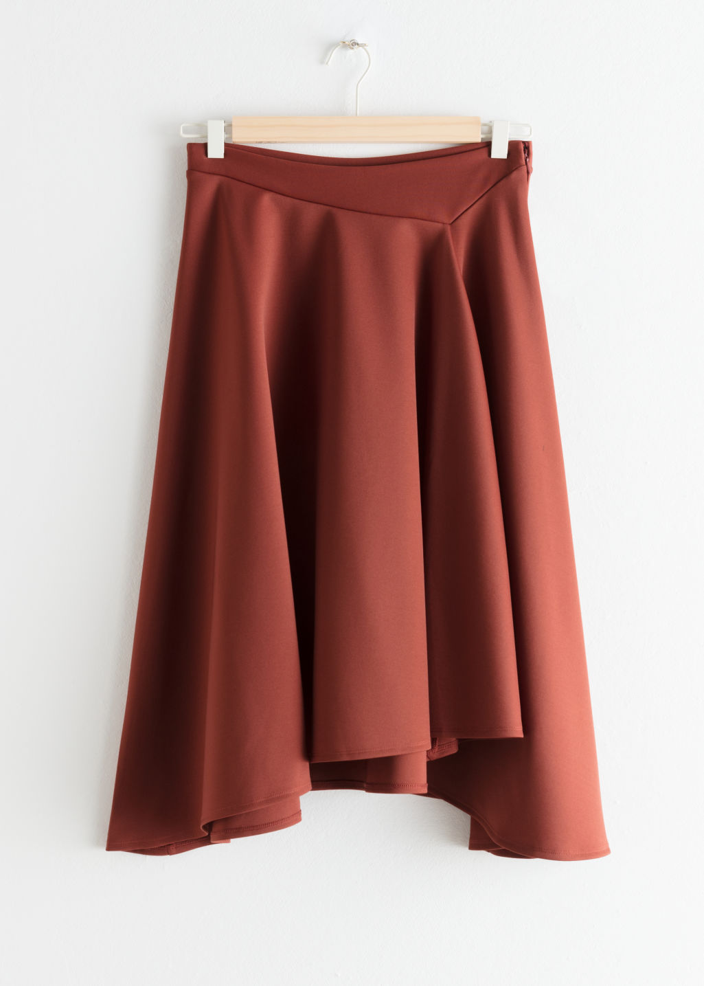 Front image of Stories voluminous a-line skirt in orange