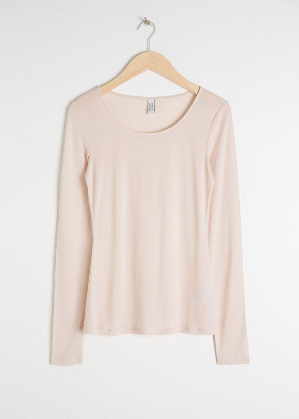Scoop Neck Long Sleeve Shirt