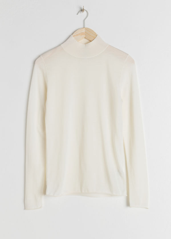Fitted Merino Wool Turtleneck