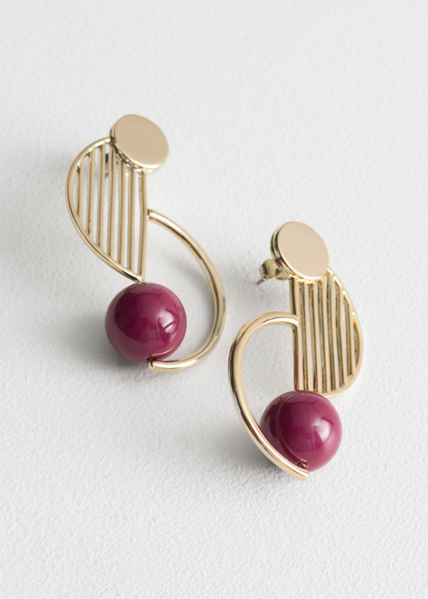Rounded Sculptural Earrings