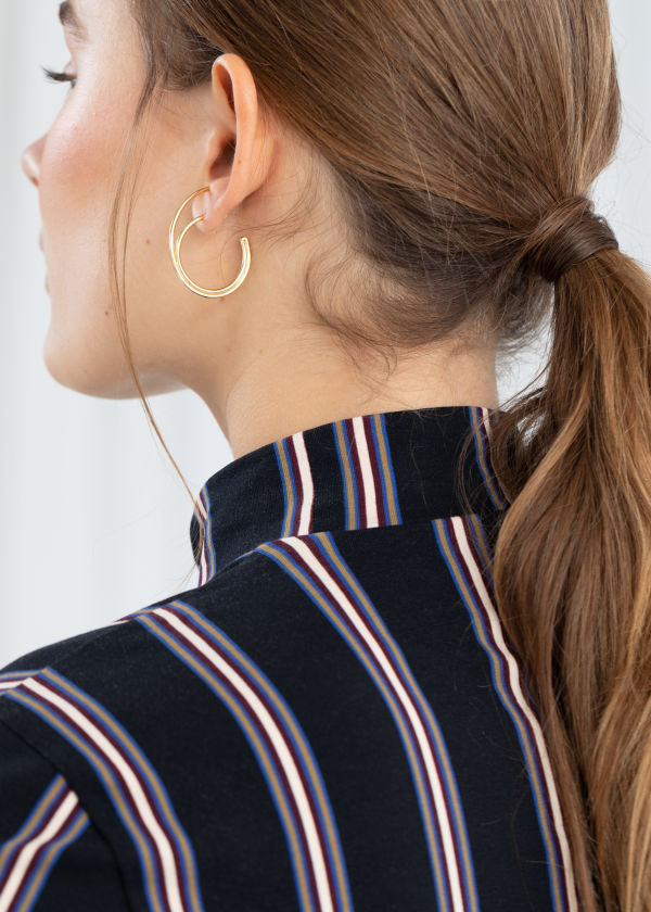 Duo Wire Hoop Earrings