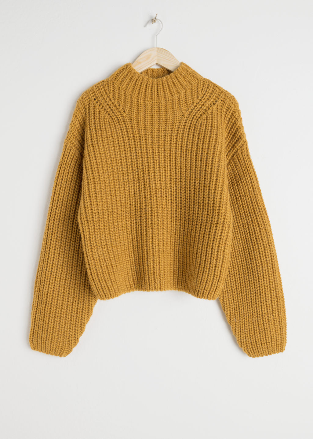 7d192d567d9 Oversized Chunky Knit Sweater - Mustard - Sweaters -   Other Stories