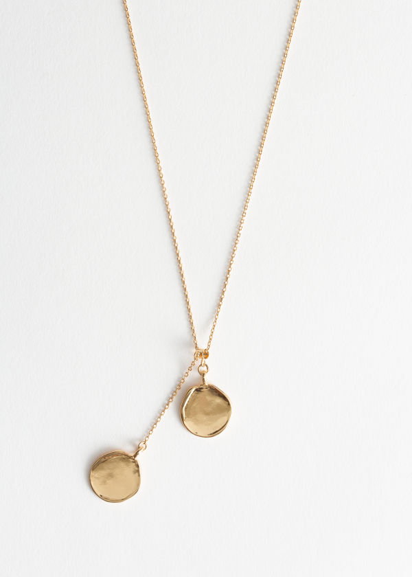 Duo Circle Charm Necklace