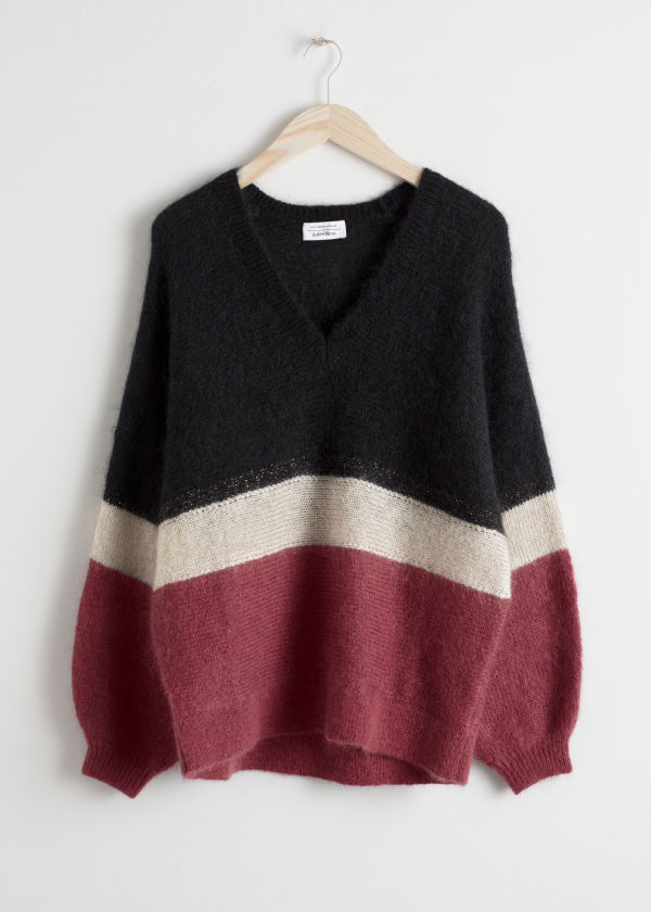 Colour Block Stripe Sweater