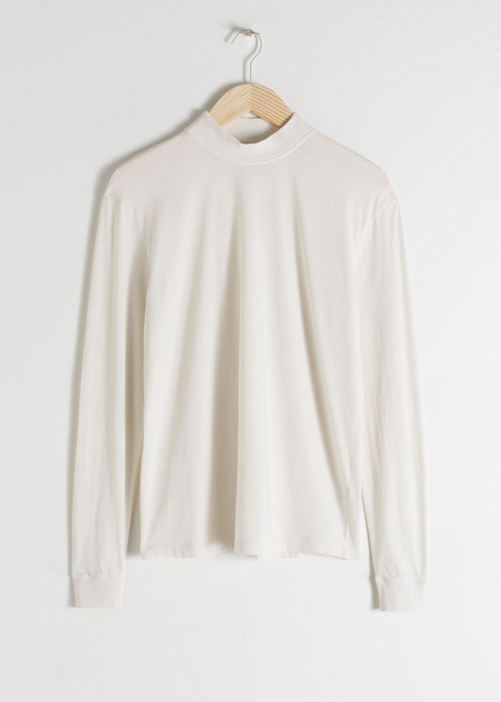 Front image of Stories cotton turtleneck  in white