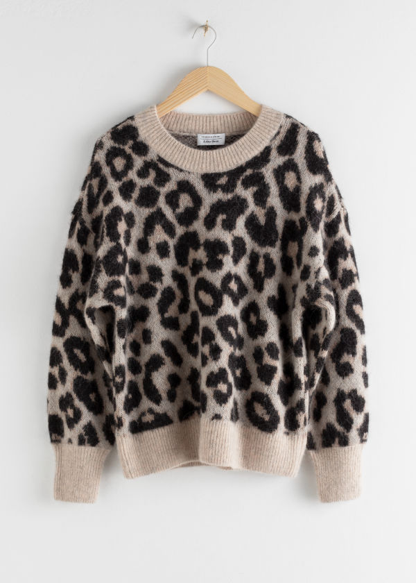 Oversized Leopard Sweater