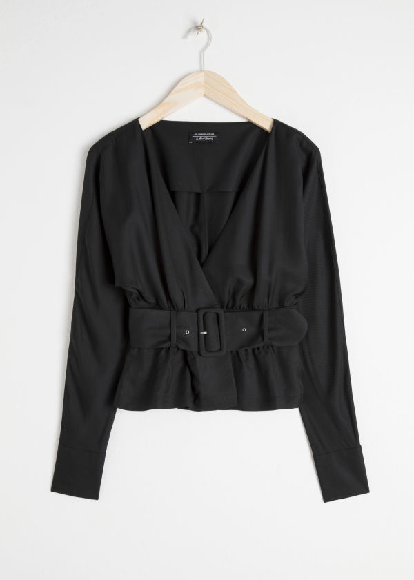 Belted Wrap Blouse