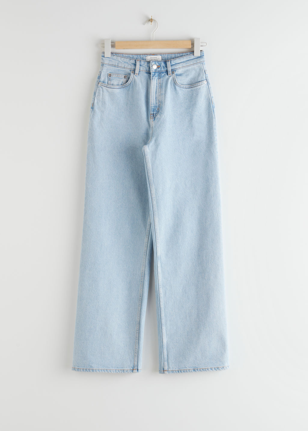 StillLife Front Image of Stories High Rise Culotte Jeans in Blue