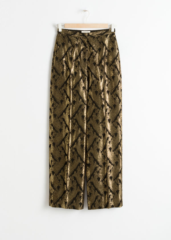 Metallic Jacquard Lounge Trousers