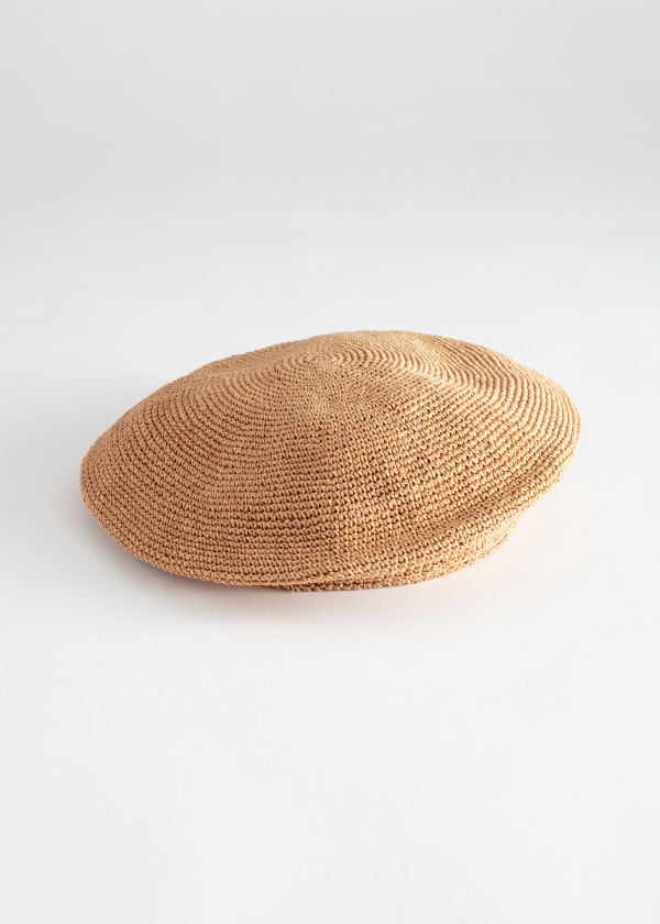 Woven Straw Beret