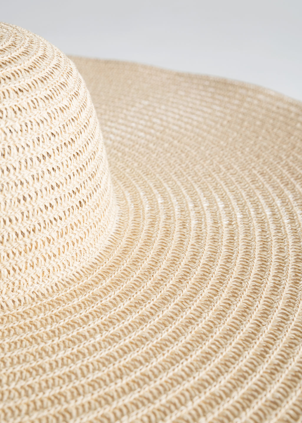 Back image of Stories large straw hat in beige