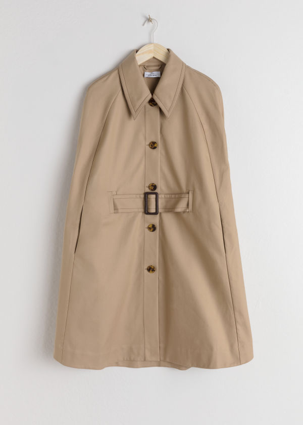 Belted Trench Cape