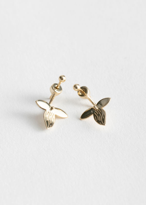 Front Back Leaf Earrings